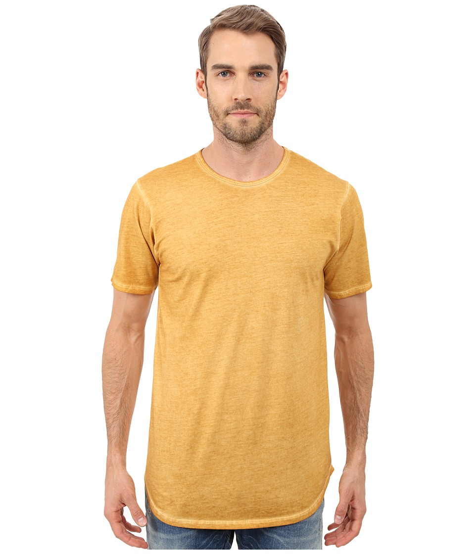 Rustic Dime - Oil Washed Long Tee (Gold) Men's T Shirt