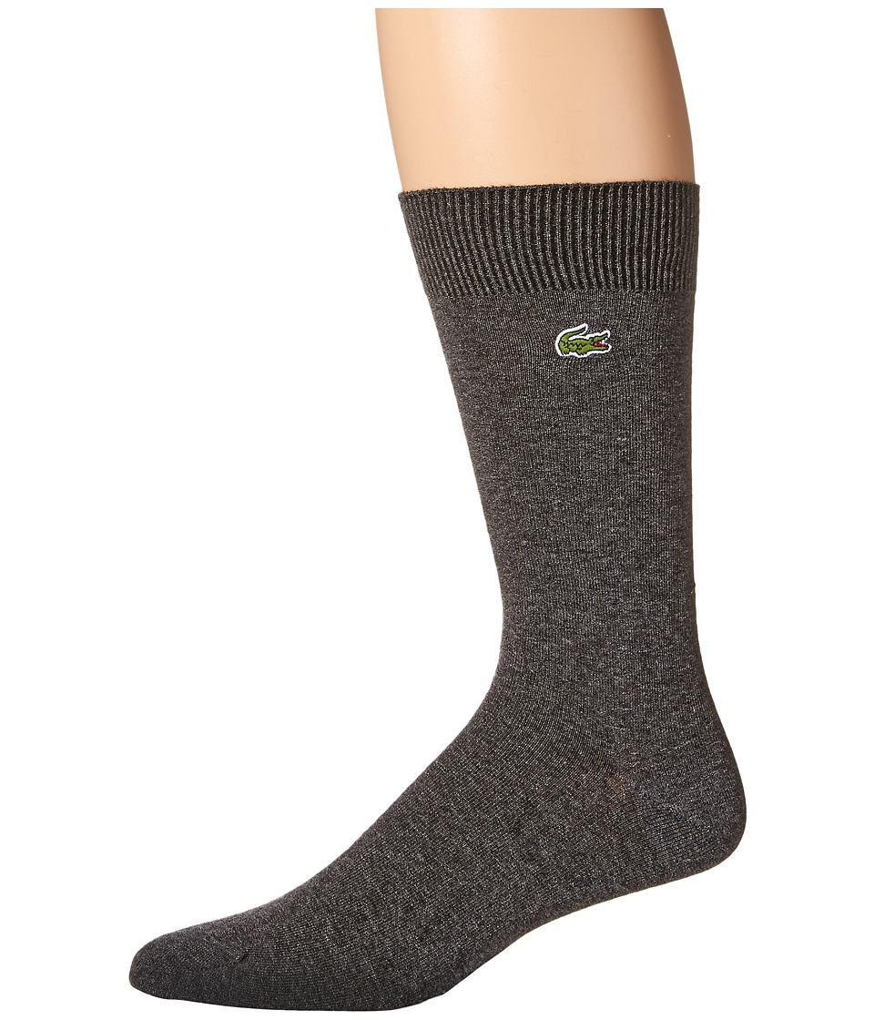 Lacoste - Jersey Trouser Sock (Dark Grey Jaspe Chine) Men's Crew Cut Socks Shoes