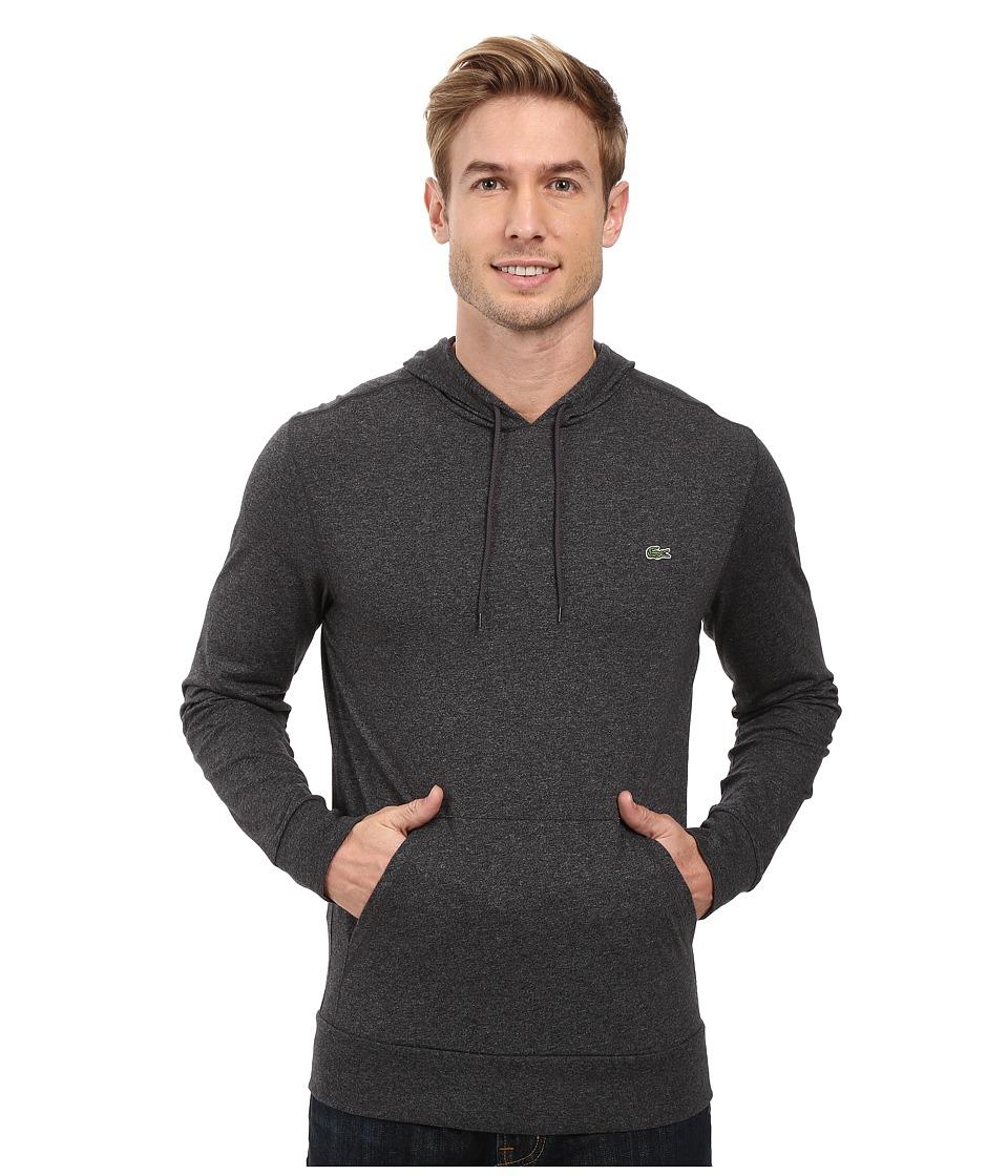 Lacoste - Jersey T-Shirt Hoodie (Dark Grey Jaspe Chine) Men's Sweatshirt