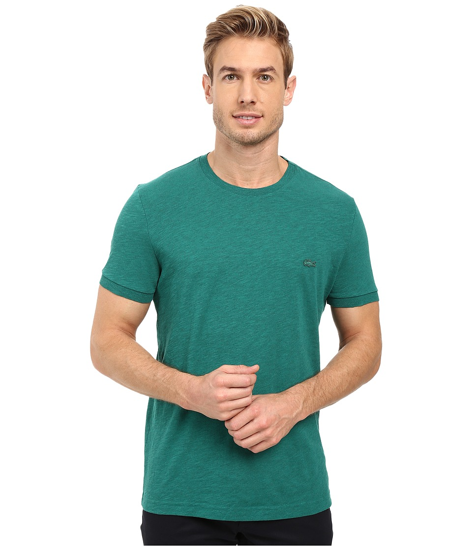 Lacoste - Short Sleeve Vintage Washed Tee (Chives Dyed) Men's Clothing