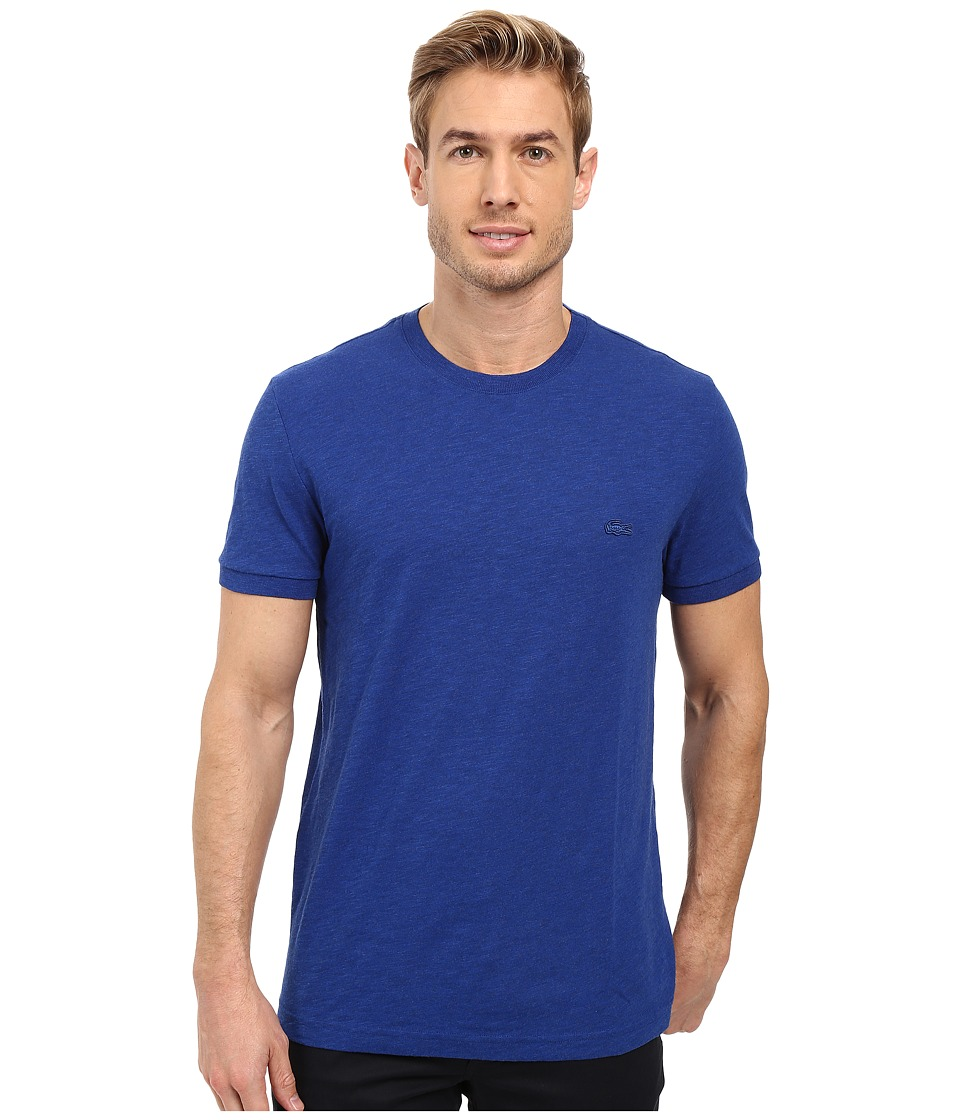 Lacoste - Short Sleeve Vintage Washed Tee (Steamer Dyed) Men's Clothing