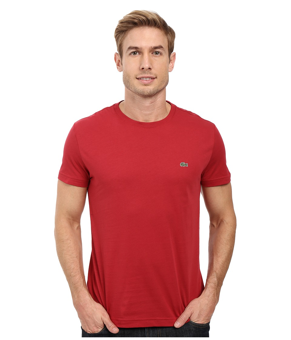 Lacoste - Short-Sleeve Pima Jersey Crewneck T-Shirt (Intense) Men's T Shirt