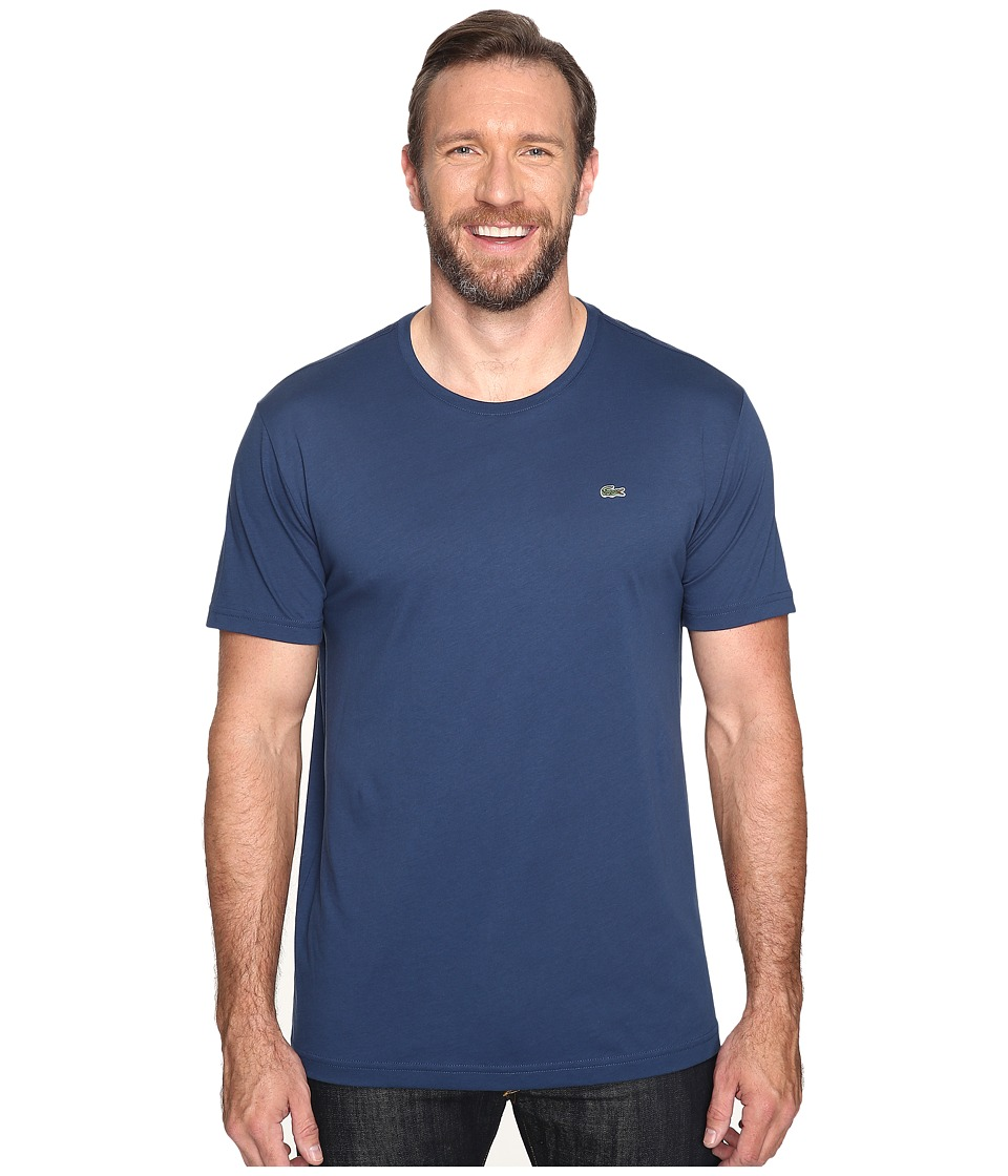 Lacoste - Short-Sleeve Pima Jersey Crewneck T-Shirt (Philippines Blue) Men's T Shirt