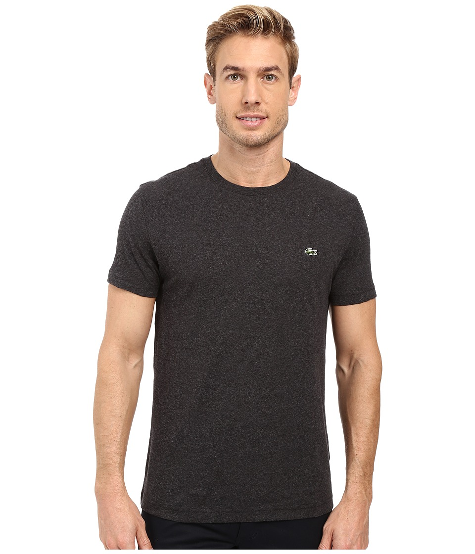 Lacoste - Short-Sleeve Pima Jersey Crewneck T-Shirt (Panther Black) Men's T Shirt
