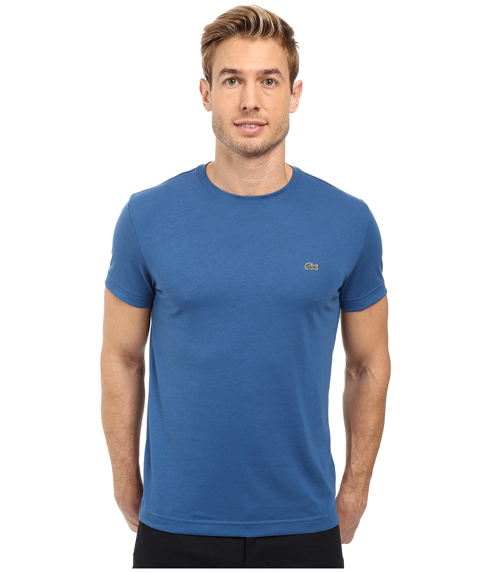 Lacoste - Short-Sleeve Pima Jersey Crewneck T-Shirt (Officer Blue) Men's T Shirt