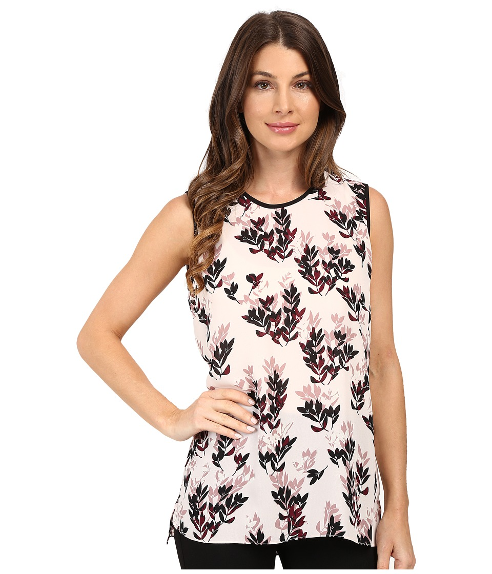 Vince Camuto - Sleeveless Leaf Trio Blouse (Flora Pink) Women's Blouse