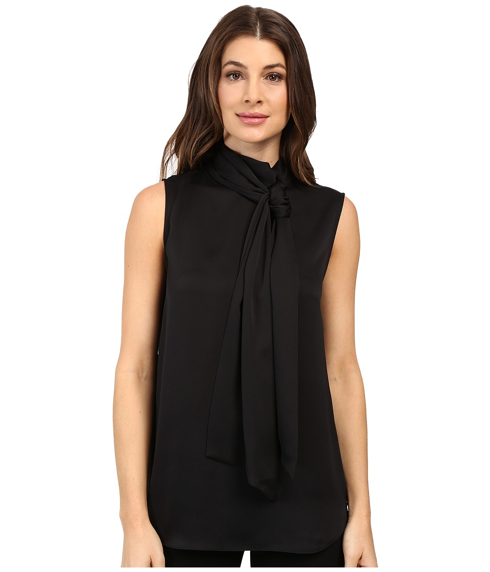 Vince Camuto - Sleeveless Bow Neck Blouse (Rich Black) Women's Blouse