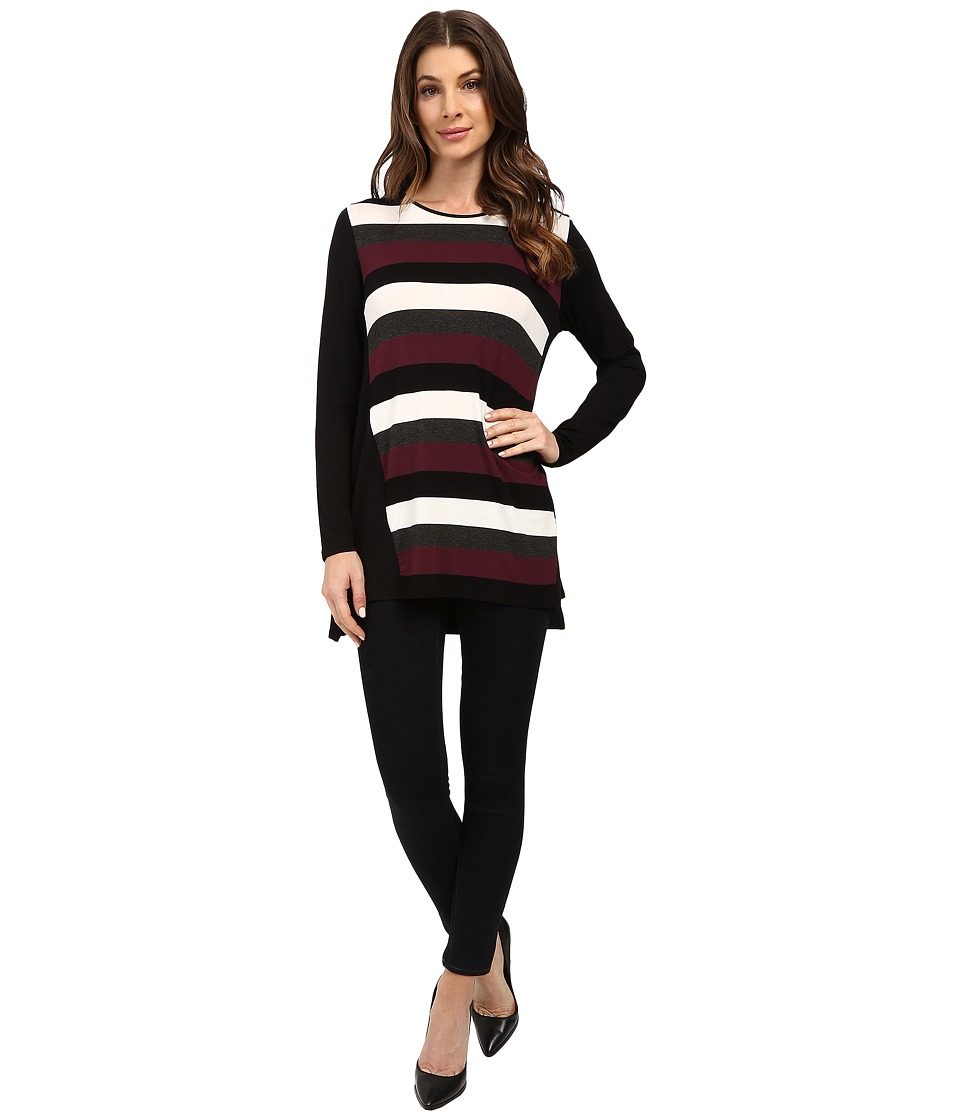 Vince Camuto - Long Sleeve Chalk Stripe Tunic (Raisin) Women's Clothing