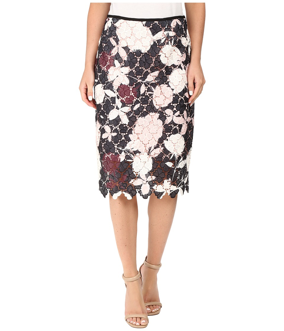 Vince Camuto - Chapel Rose Printed Lace Pencil Skirt (Rosey Flush) Women's Skirt