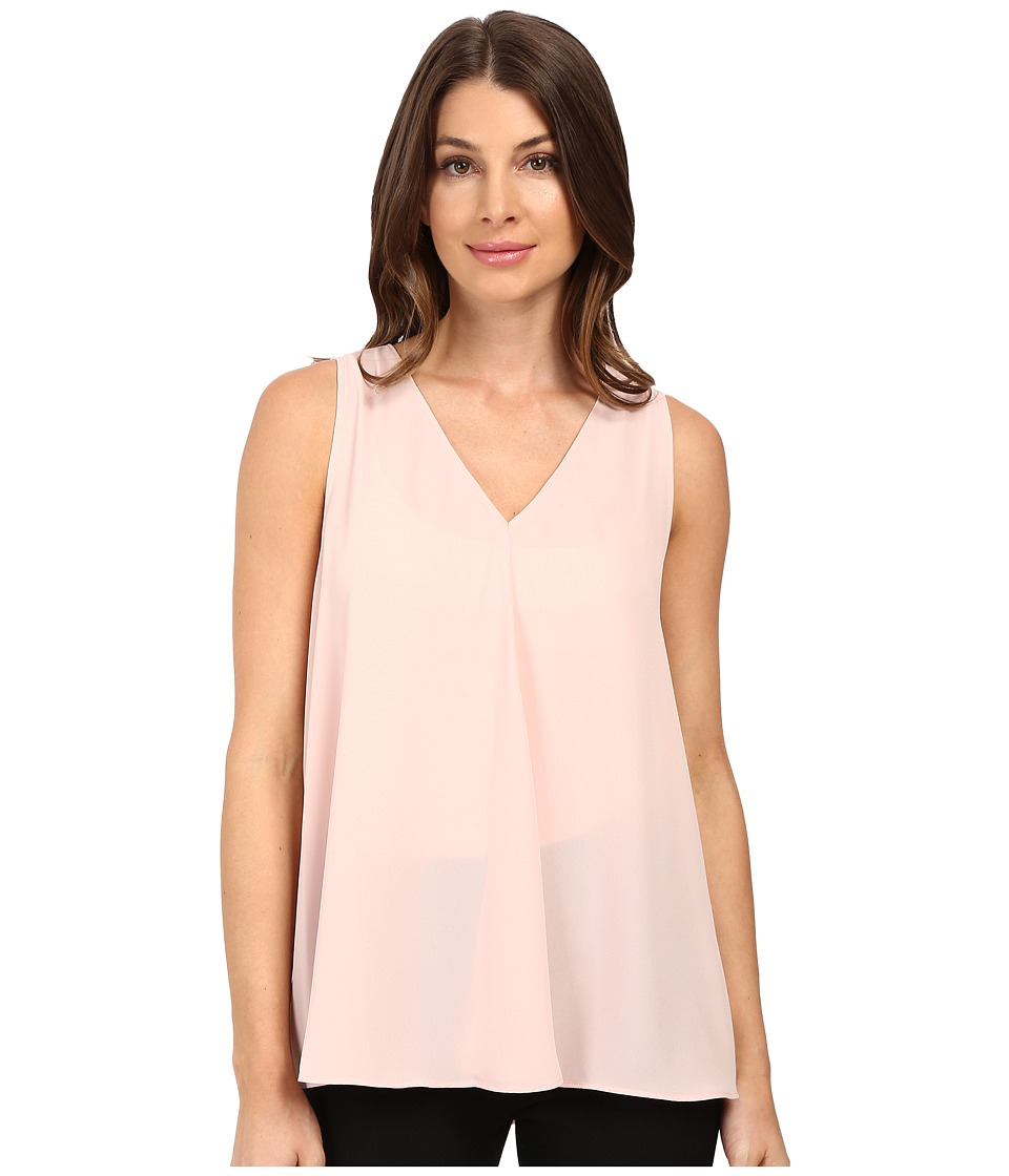 Vince Camuto - Sleeveless V-Neck Drape Front Blouse (Rosy Flush) Women's Blouse