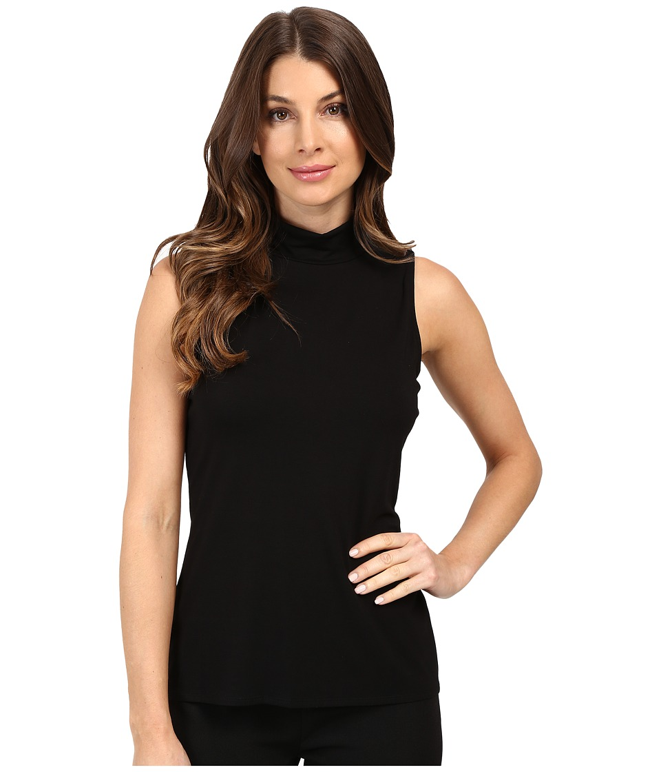 Vince Camuto - Sleeveless Turtleneck Top (Rich Black) Women's Clothing