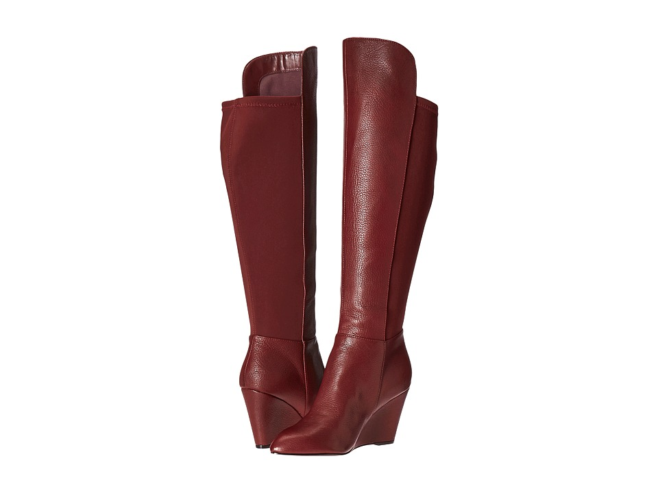 Charles by Charles David Ebony (Merlot Leather/Elastic) Women