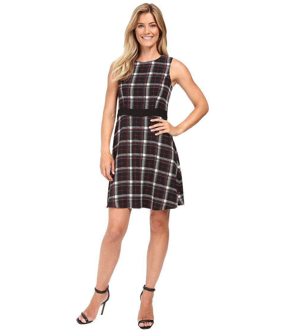 Vince Camuto - Sleeveless Harbour Plaid Dress (Rich Black) Women's Dress