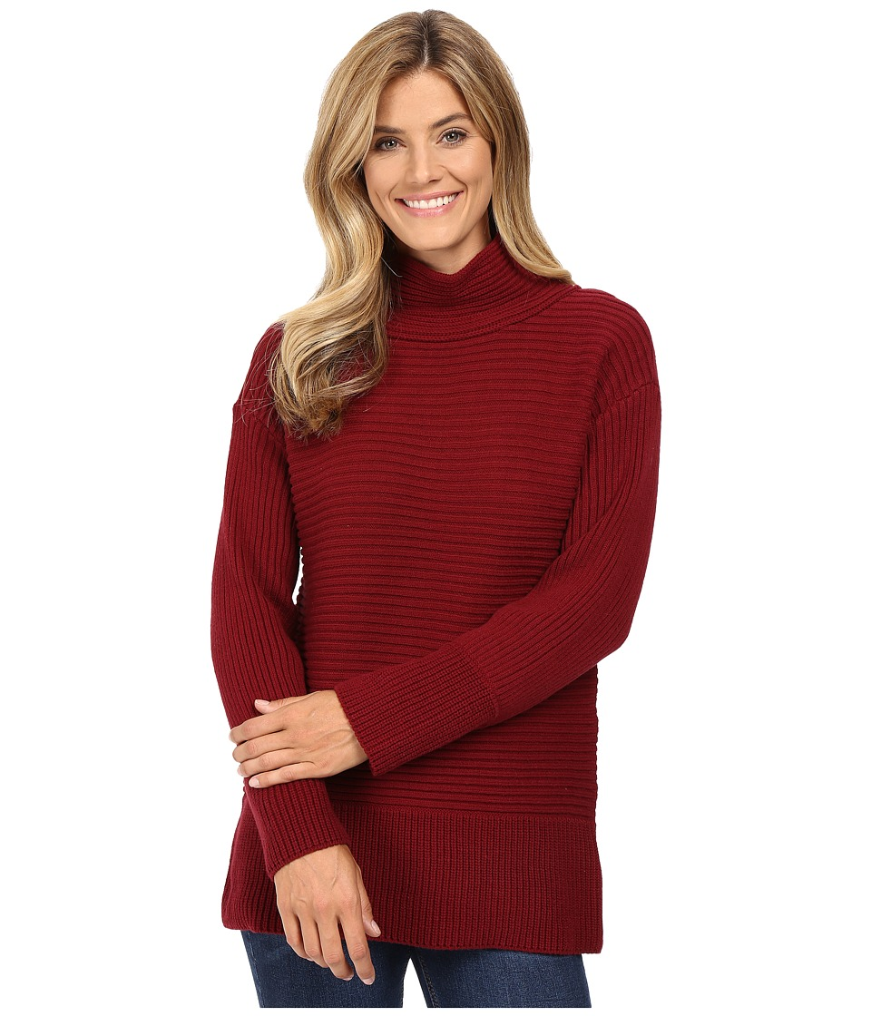 Vince Camuto - Long Sleeve Turtleneck Ribbed Sweater (Malbec Red) Women's Sweater