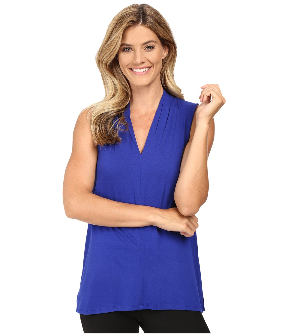 Vince Camuto - Sleeveless V-Neck Top (Anchor Blue) Women's Clothing
