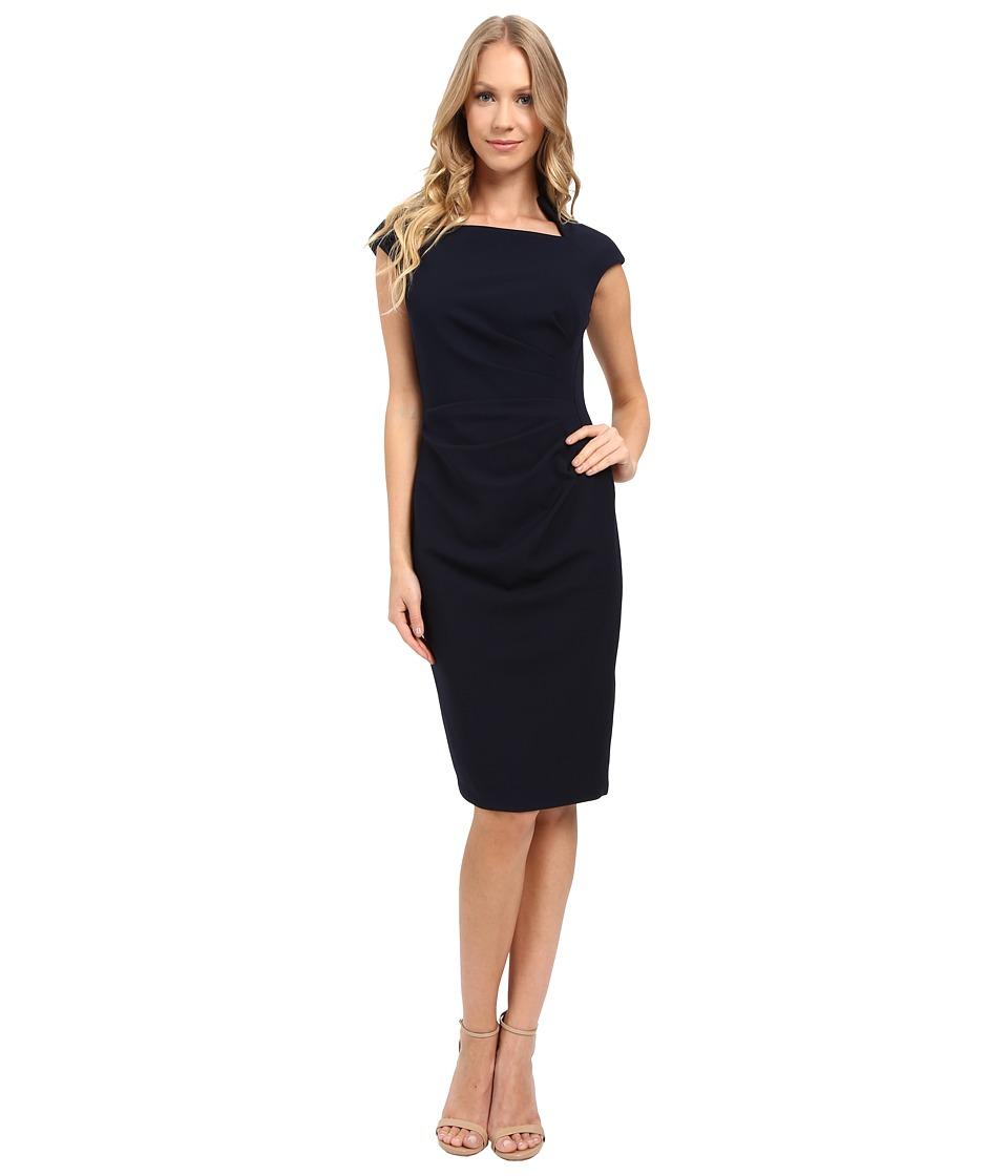 Maggy London - Crepe Sheath Dress (Navy) Women's Dress