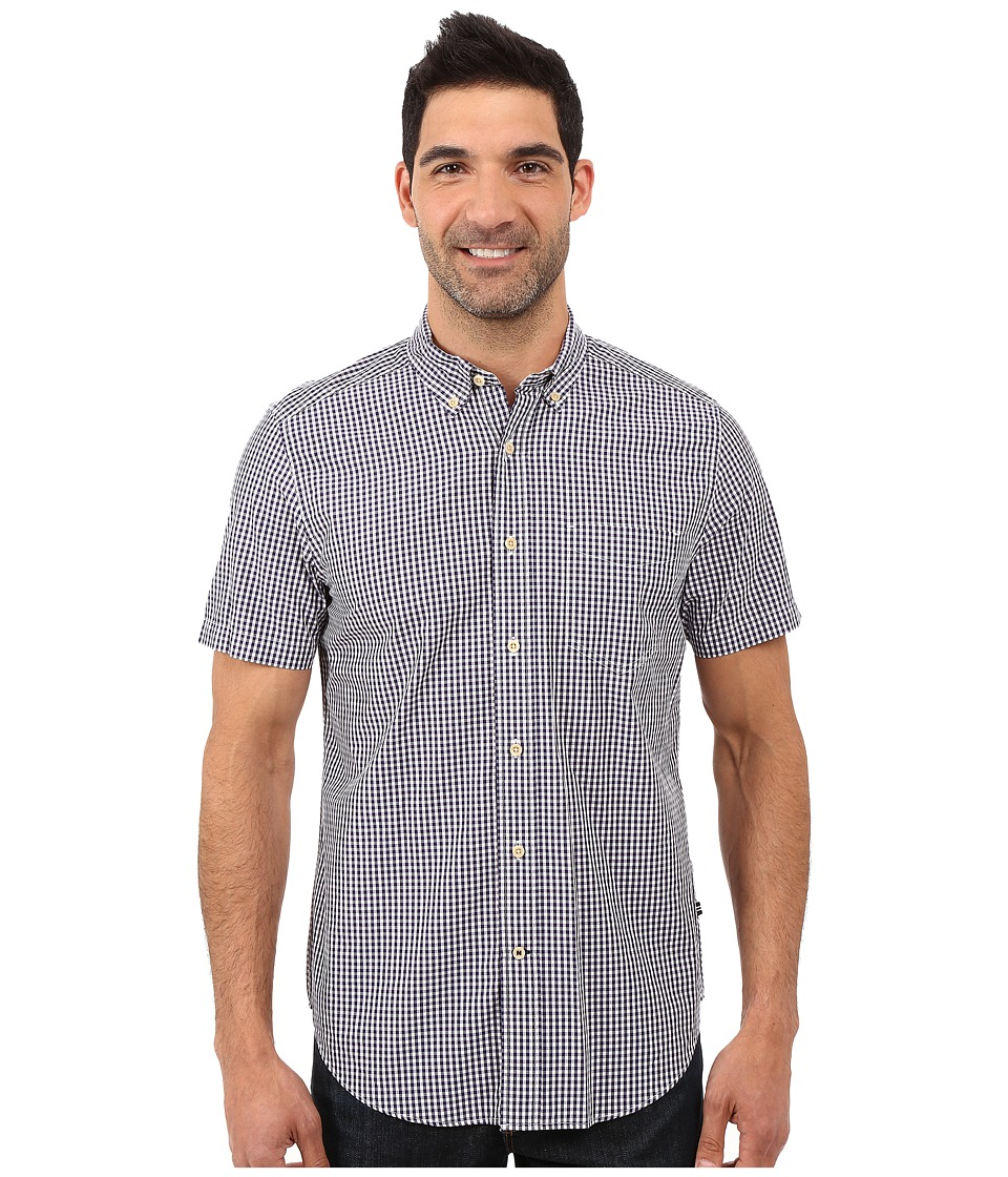 Nautica - Short Sleeve Check Shirt w/ Pocket (Majestic Purple) Men's Short Sleeve Button Up