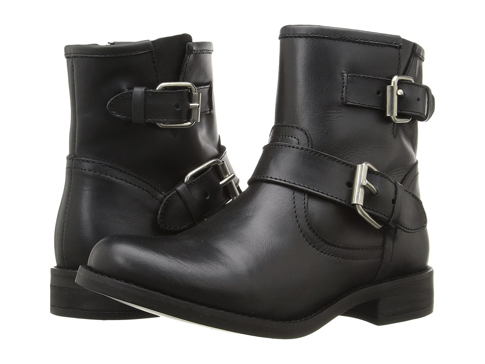 Steve Madden Cain (Black Leather) Women
