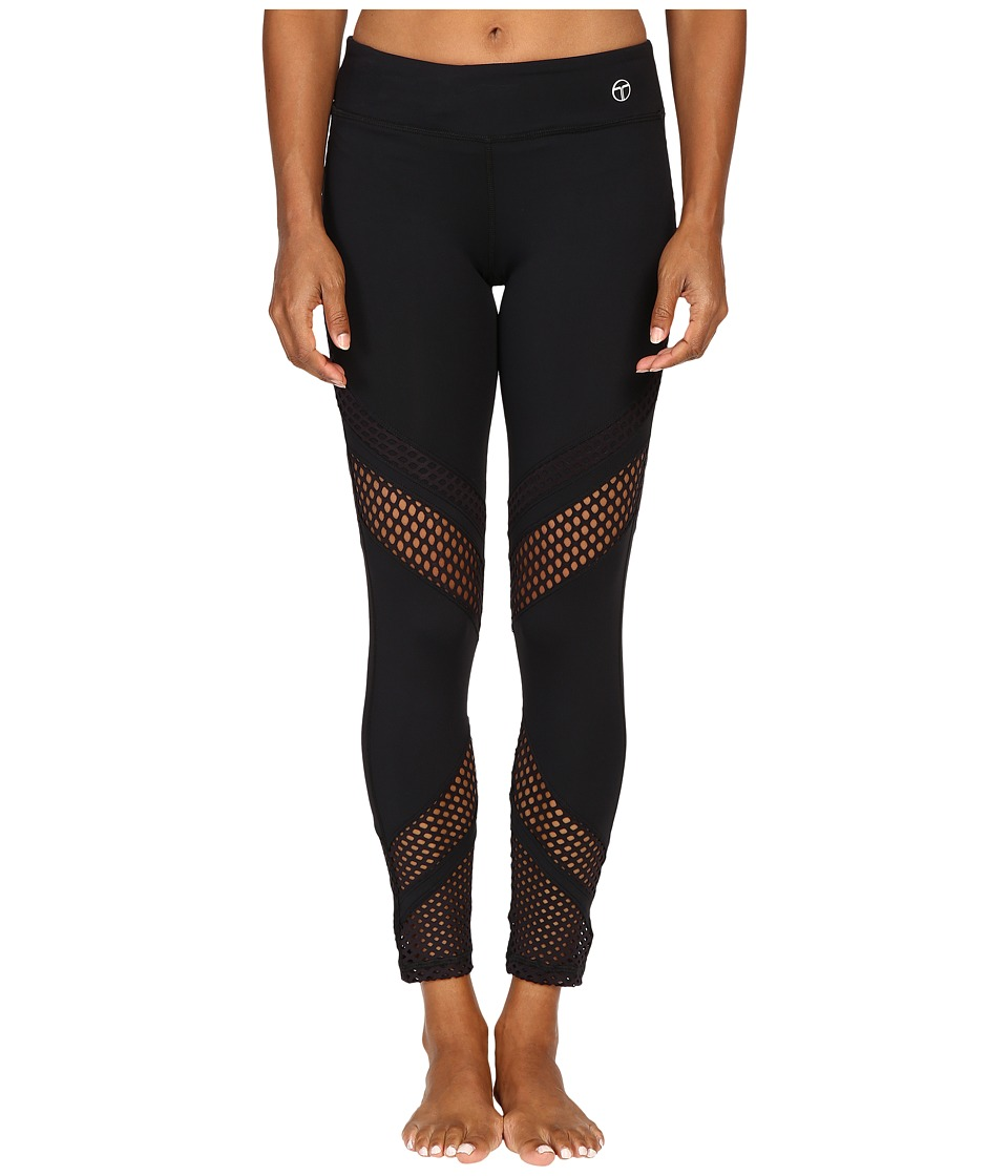 Trina Turk - Laser Cut Solids Full-Length Leggings (Black) Women's Workout
