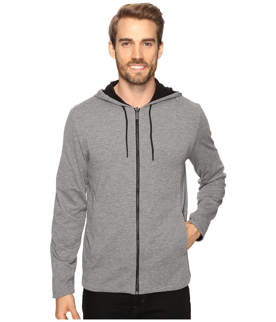 Kenneth Cole Sportswear - Reversible Hoodie (Black) Men's Sweater
