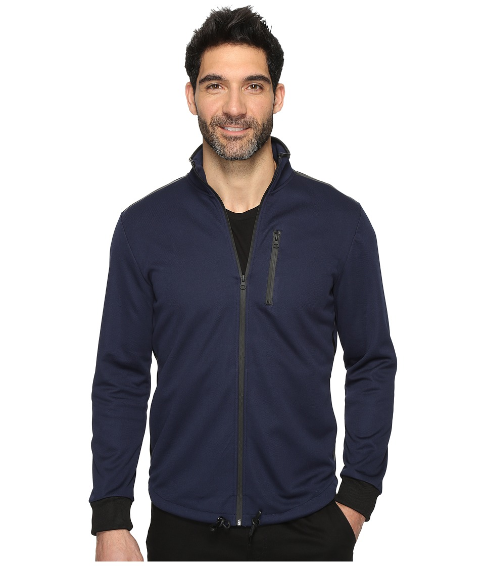 Kenneth Cole Sportswear - Bonded Zip Mock (Indigo) Men's Sweater