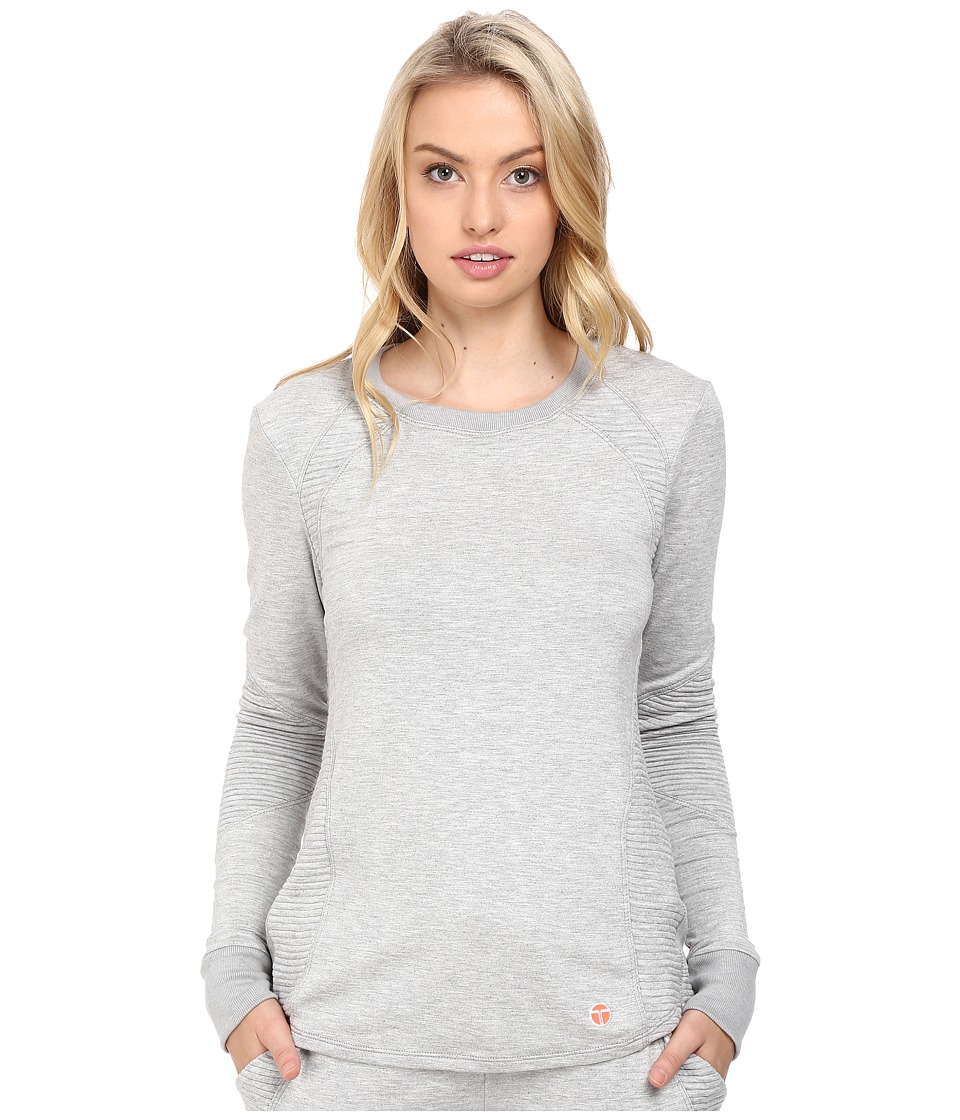 Trina Turk - Pleated Pieces Long Sleeve Sweatshirt (Grey) Women's Sweatshirt