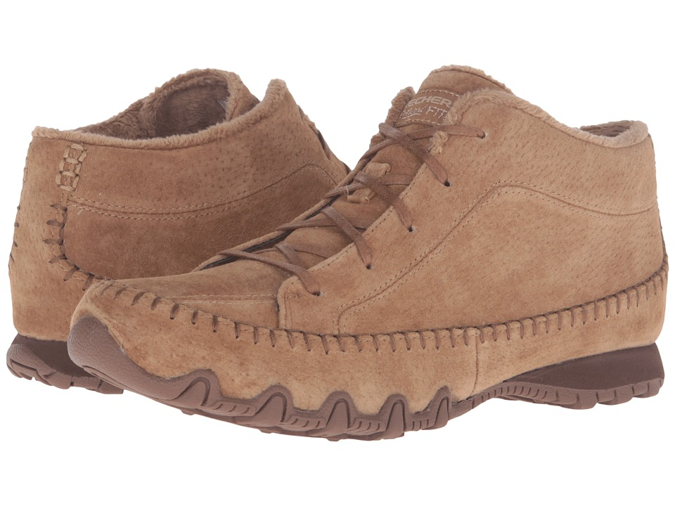 SKECHERS - Bikers - Totem Pole (Brown) Women's Lace up casual Shoes