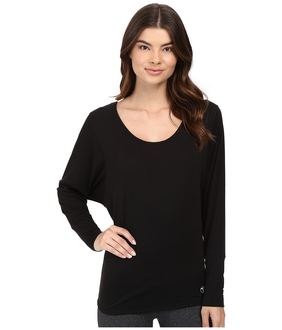 Trina Turk - Knotted Jacquard Jersey Scoop Back Dolman (Black) Women's Clothing