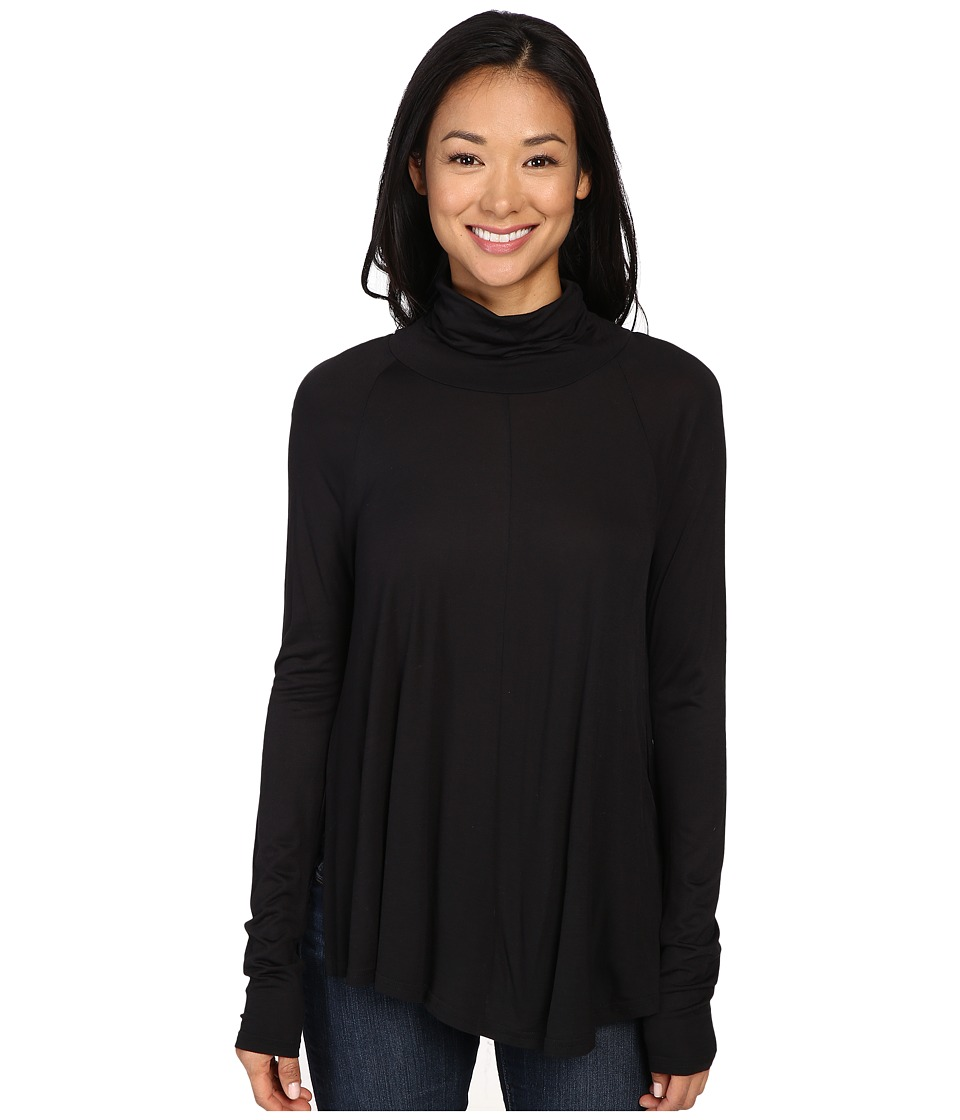 Lilla P - Warm Viscose Swing Turtleneck (Black) Women's Sweater