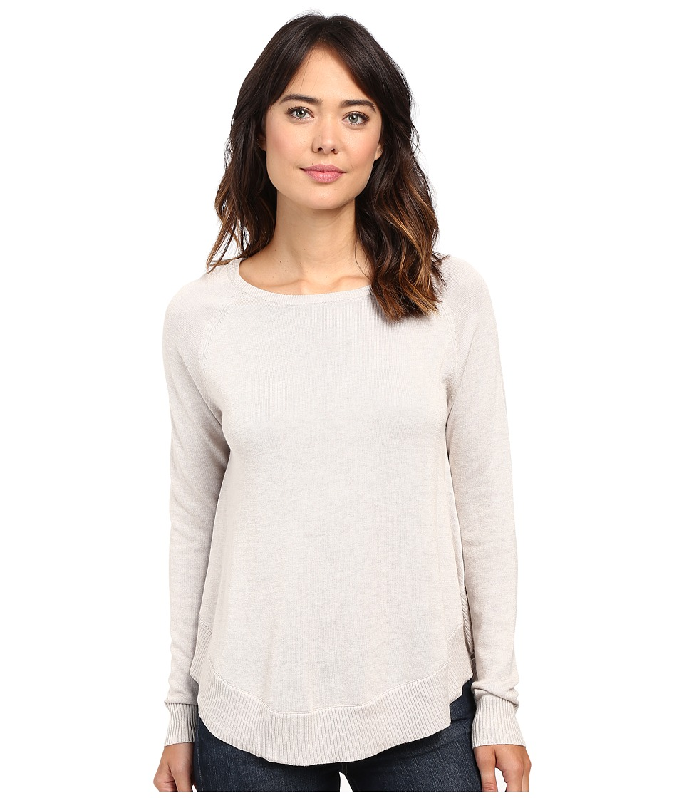 Lilla P - Cotton Modal Raglan Sleeve Swing Sweater (Barley) Women's Sweater