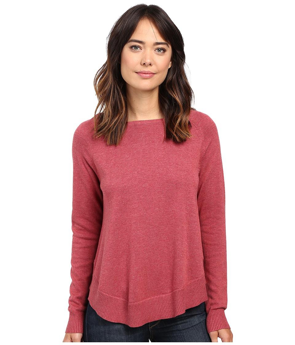 Lilla P - Cotton Modal Raglan Sleeve Swing Sweater (Rosewater) Women's Sweater