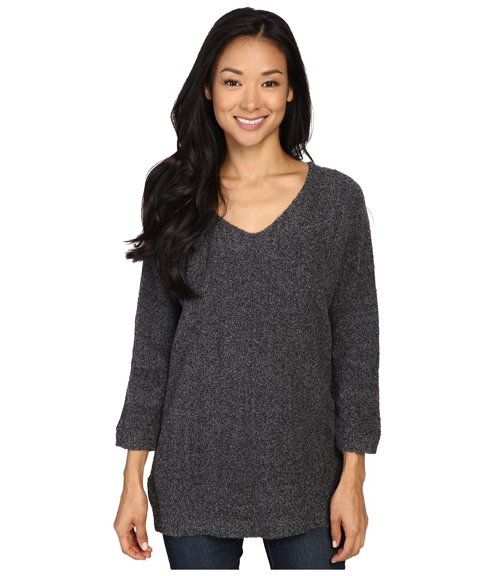 Lilla P - Boucle V-Neck Tunic (Grey Boucle) Women's Blouse