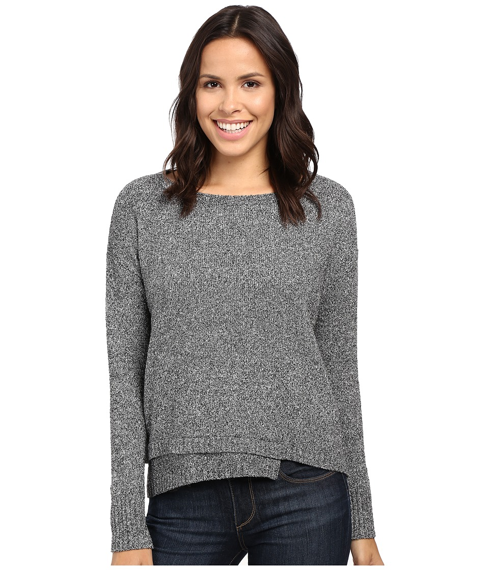 Lilla P - Multicolor Cotton Blend Long Sleeve Jewel Neck (Granite) Women's Clothing