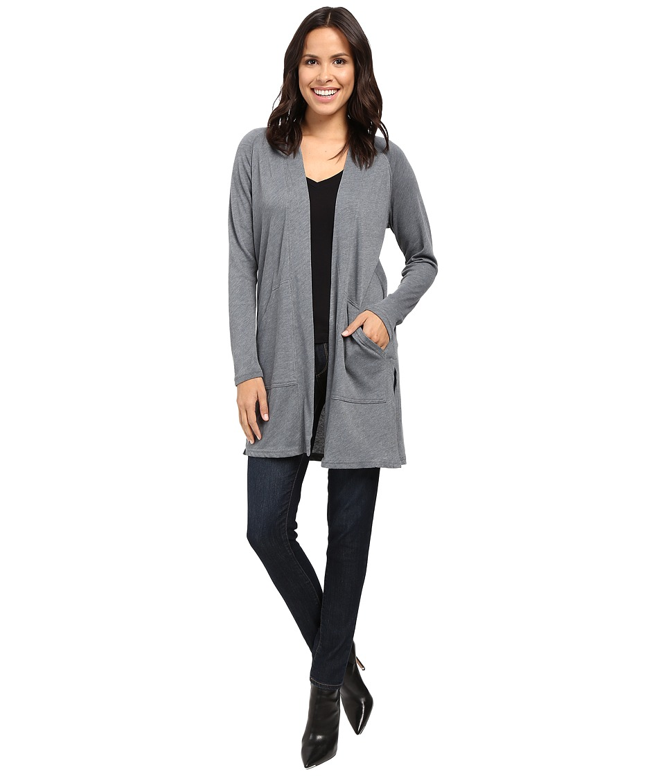 Lilla P - Peached Knit Long Sleeve Duster (Storm) Women's Clothing