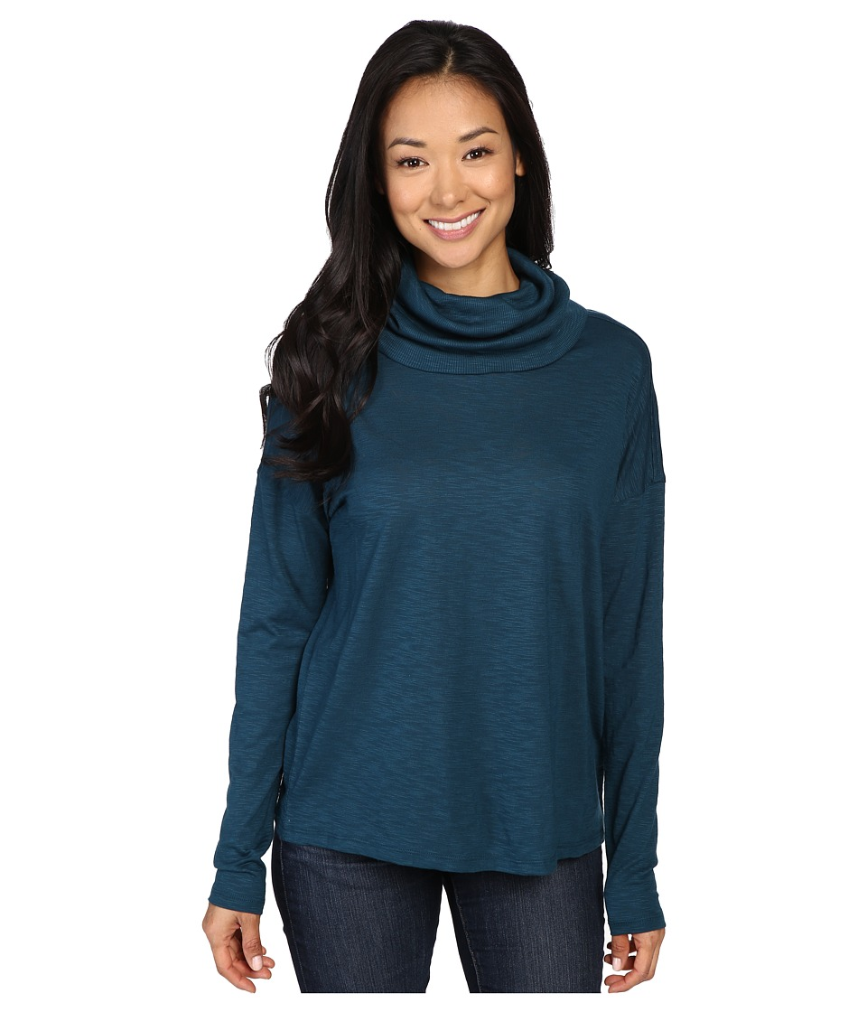 Lilla P - Pima Modal Slub Dropped Shoulder Cowl Neck (Stream) Women's Clothing