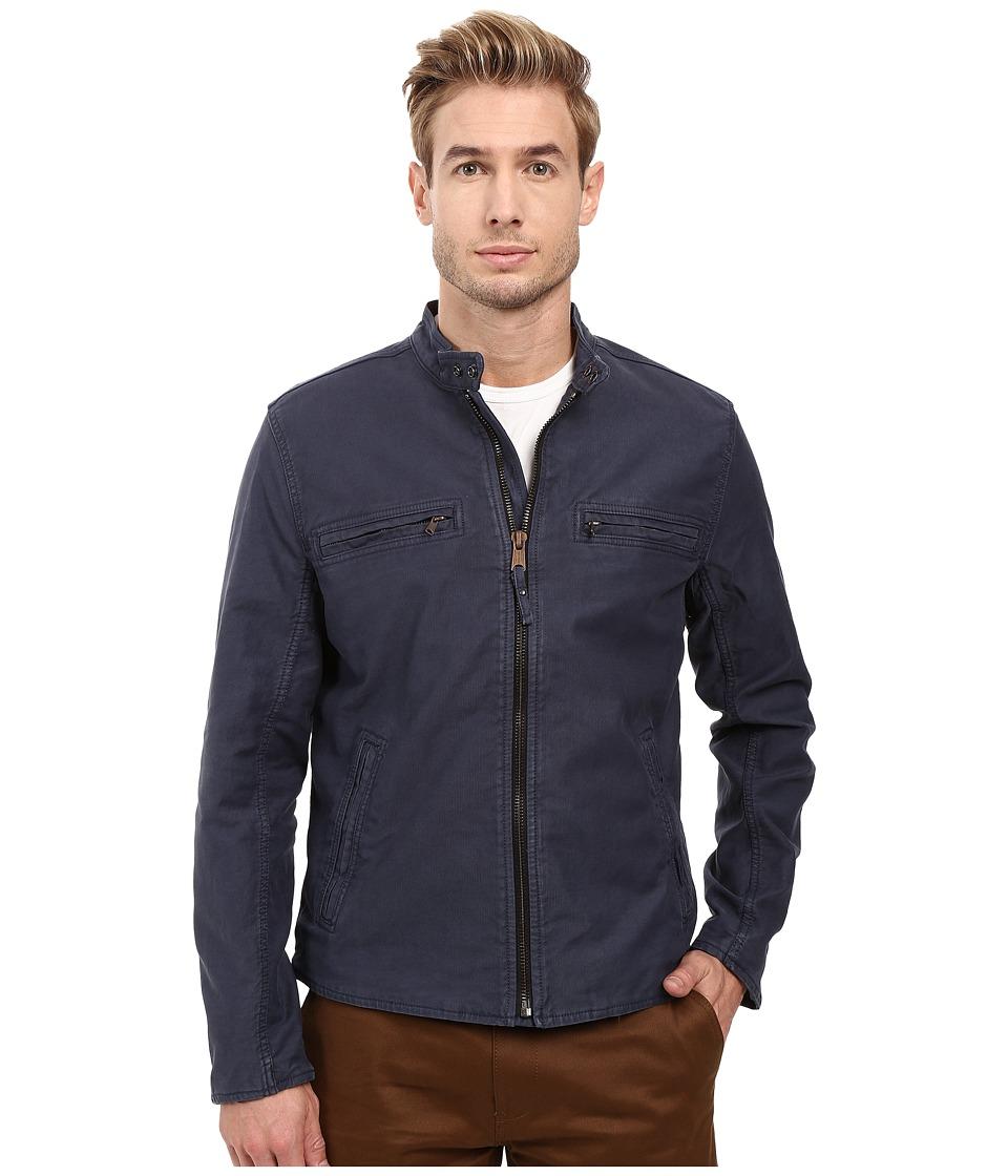 Lucky Brand - Bedford Racer Jacket (Black Iris) Men's Coat