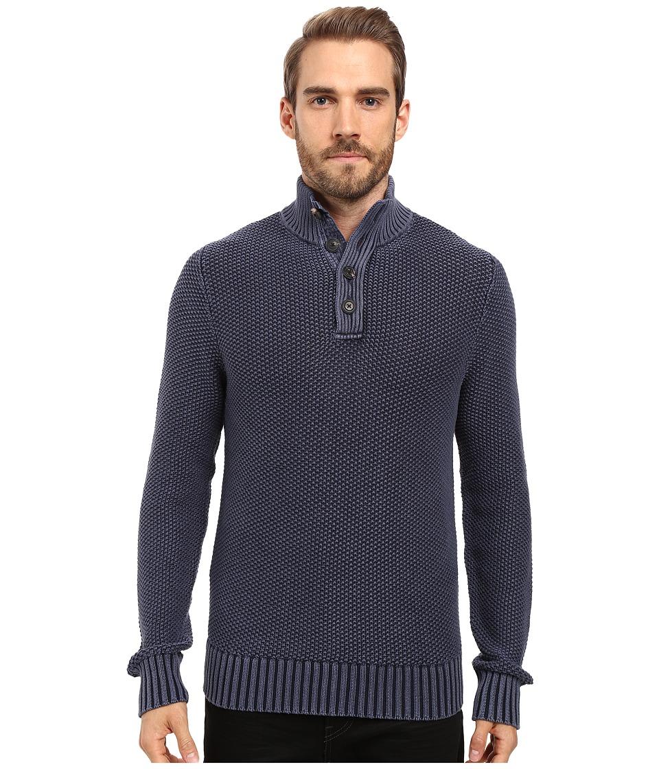 Lucky Brand - Mock Neck Sweater (Black Iris) Men's Sweater