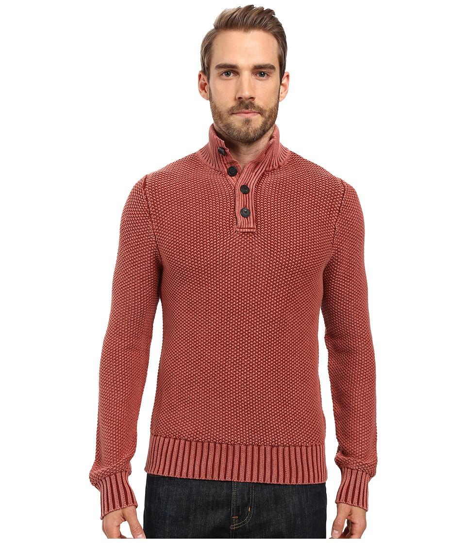 Lucky Brand - Mock Neck Sweater (Redwood) Men's Sweater