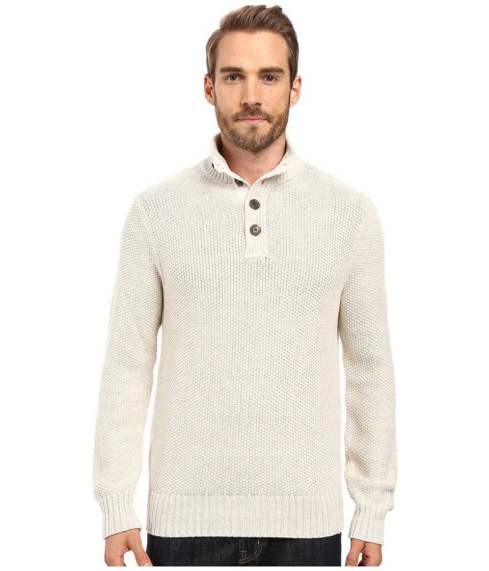 Lucky Brand Mock Neck Sweater (Marshmallow) Men