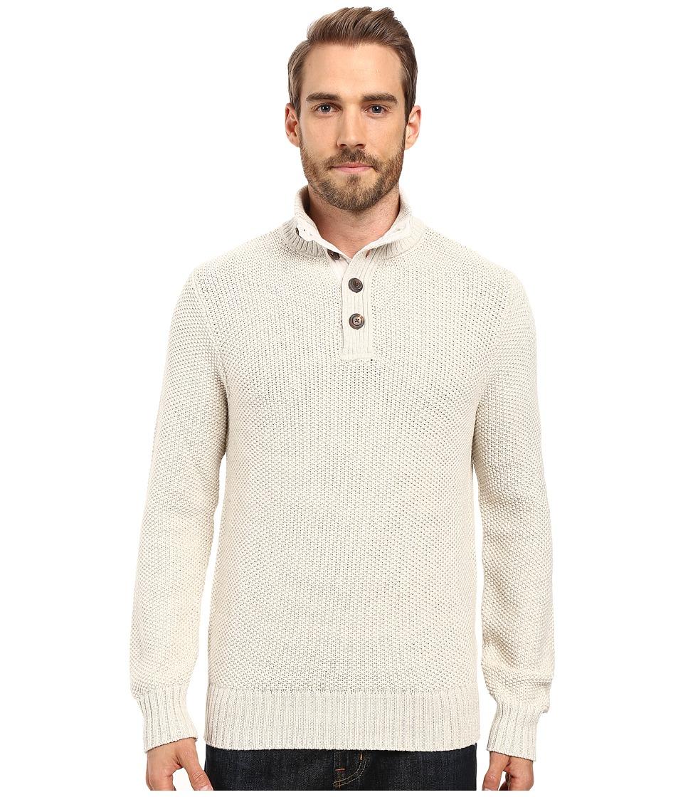 Lucky Brand - Mock Neck Sweater (Marshmallow) Men's Sweater