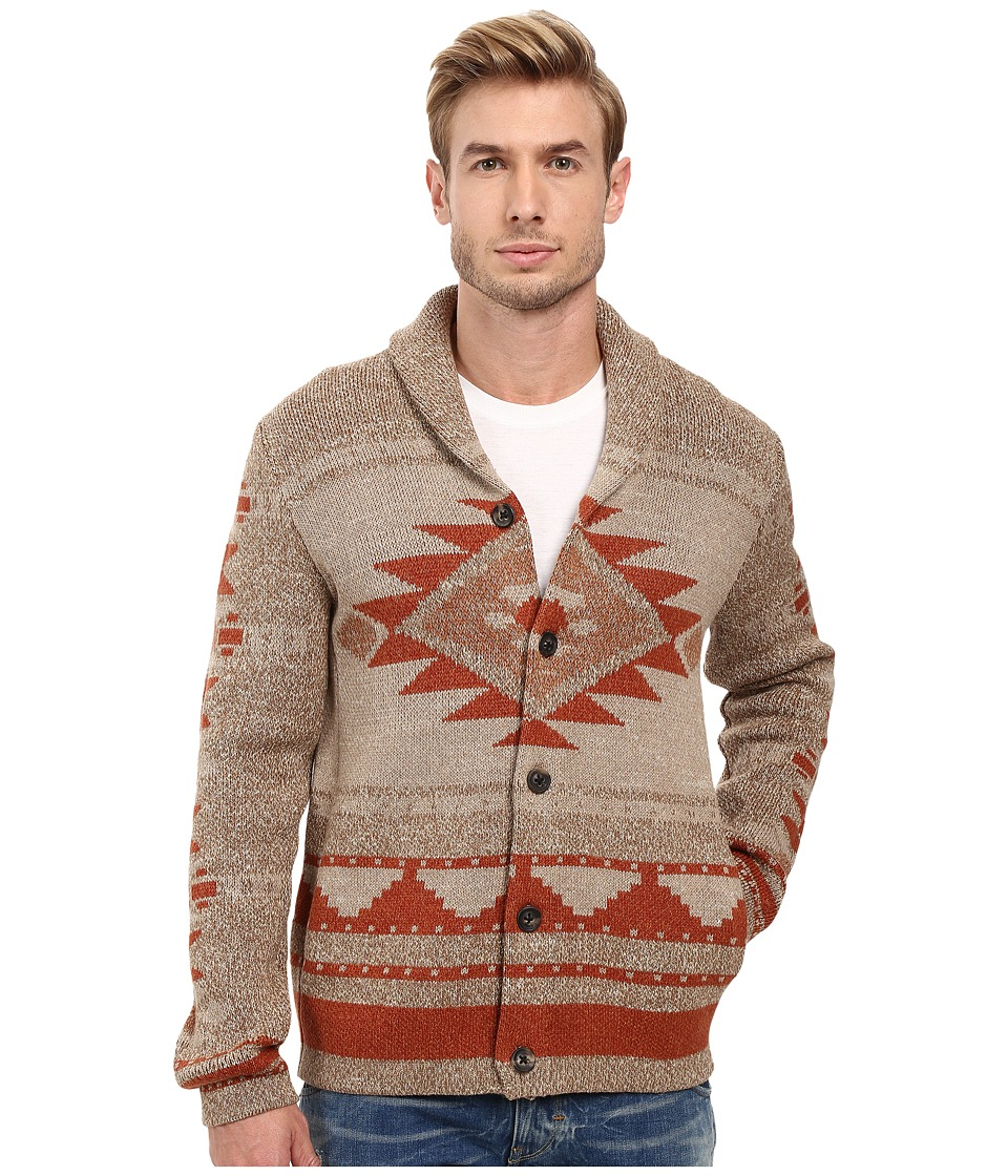Lucky Brand - Novelty Cardgian (Multi) Men's Sweater