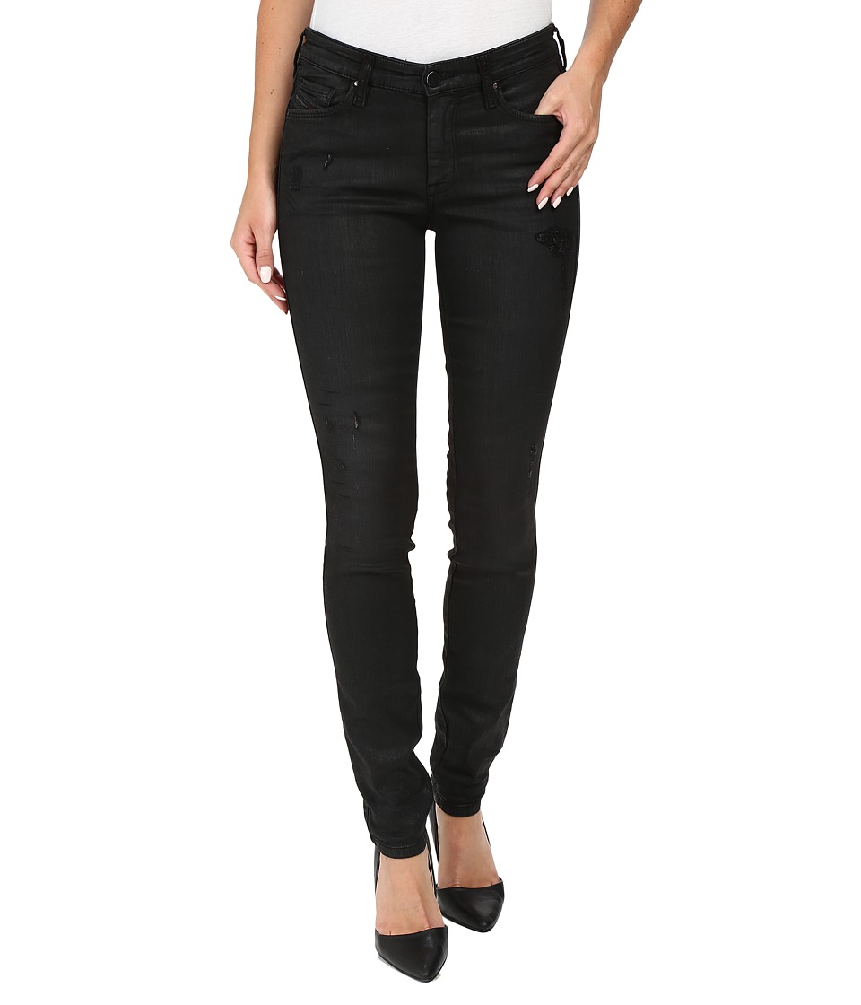 Diesel - Doris-Ne Sweat Jeans 855E (Black/Denim) Women's Jeans