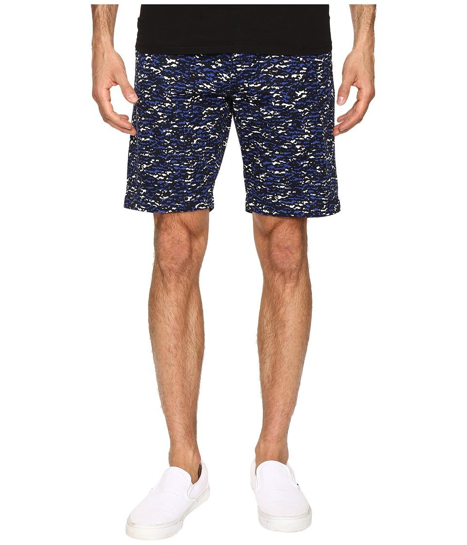 Lacoste - Camo Print Bermuda Shorts (Cosmos/Steamer/White) Men's Shorts