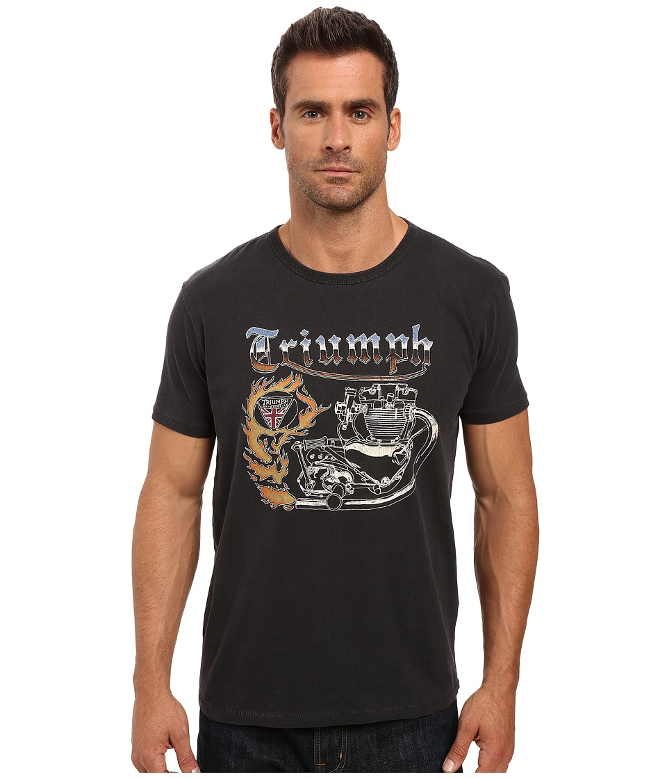 Lucky Brand - Fire Triumph Graphic Tee (Jet Black) Men's T Shirt