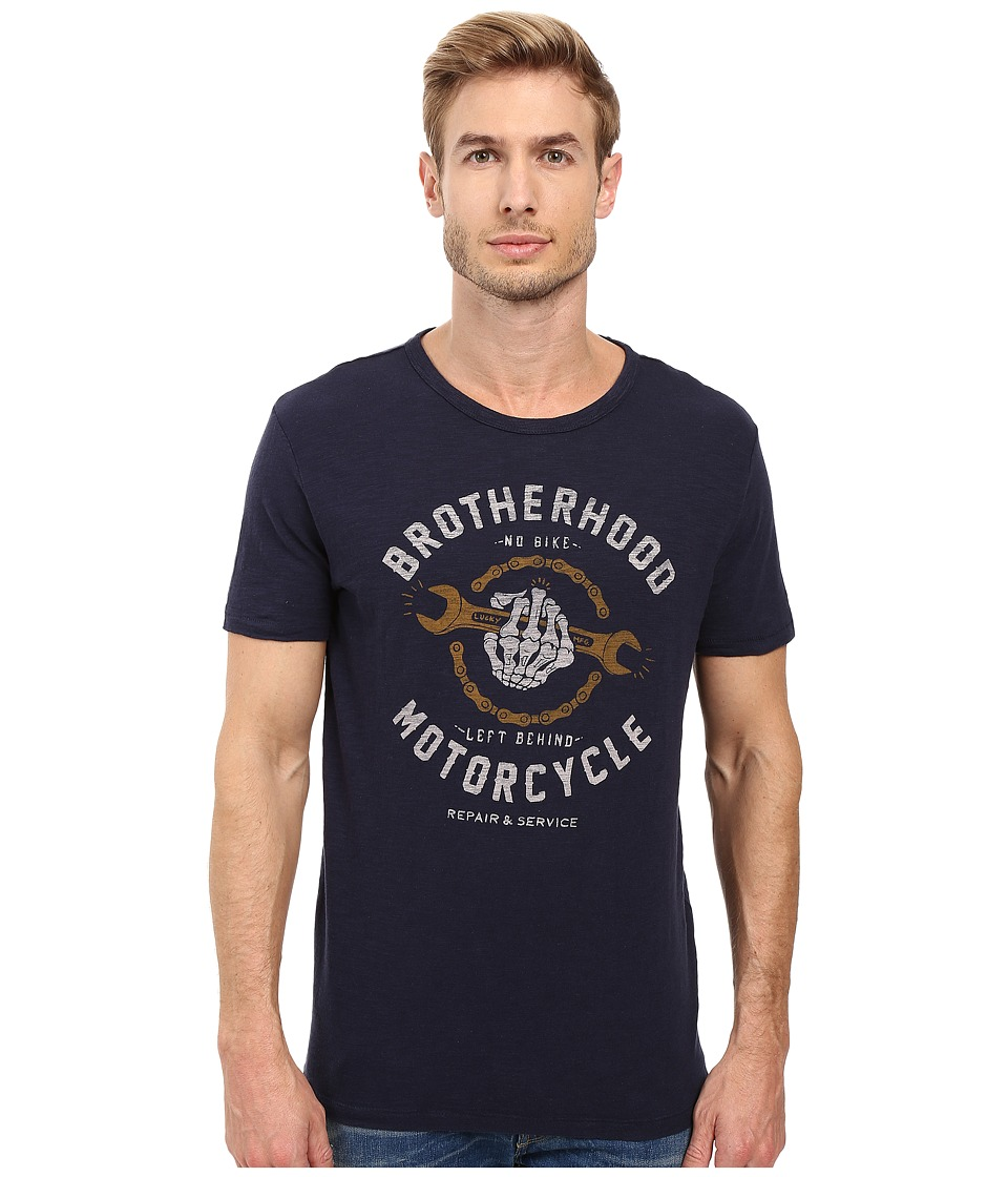 Lucky Brand - Motorcycle Repair Graphic Tee (American Navy) Men's T Shirt