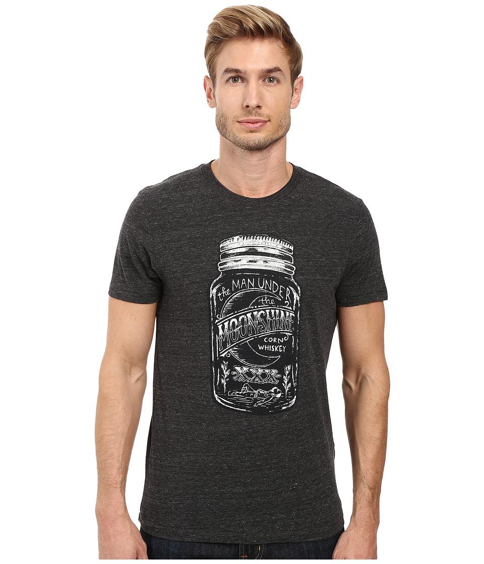 Lucky Brand - Moonshine Mason Graphic Tee (Onyx) Men's T Shirt