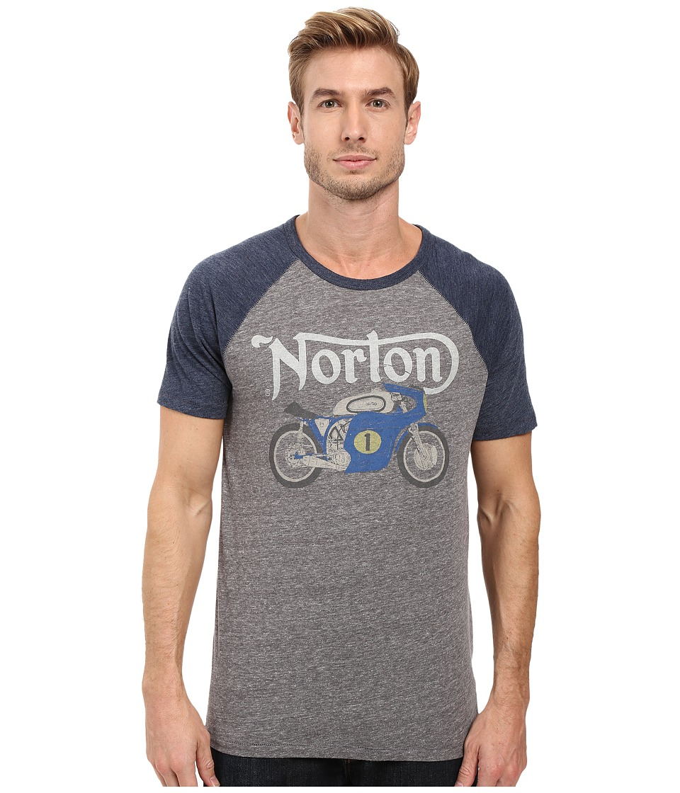 Lucky Brand - Norton Manx Graphic Tee (Heather Grey Multi) Men's T Shirt