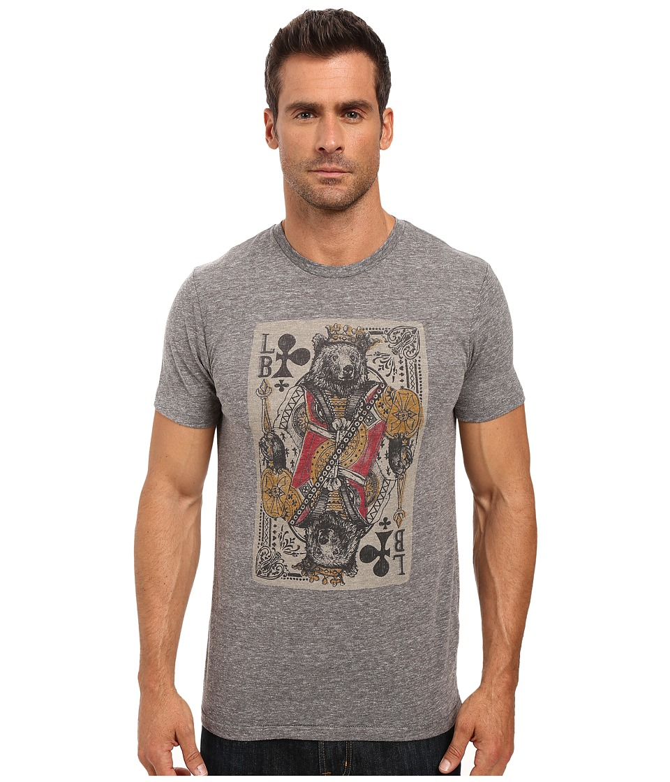 Lucky Brand - Bear Card Graphic Tee (Grey) Men's T Shirt