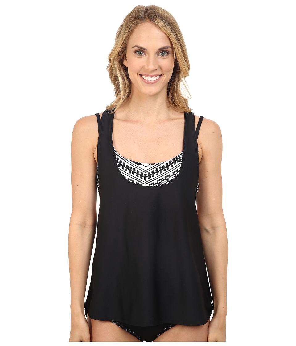 Next by Athena - Tribal's Stripe Tankini (Black) Women's Swimwear