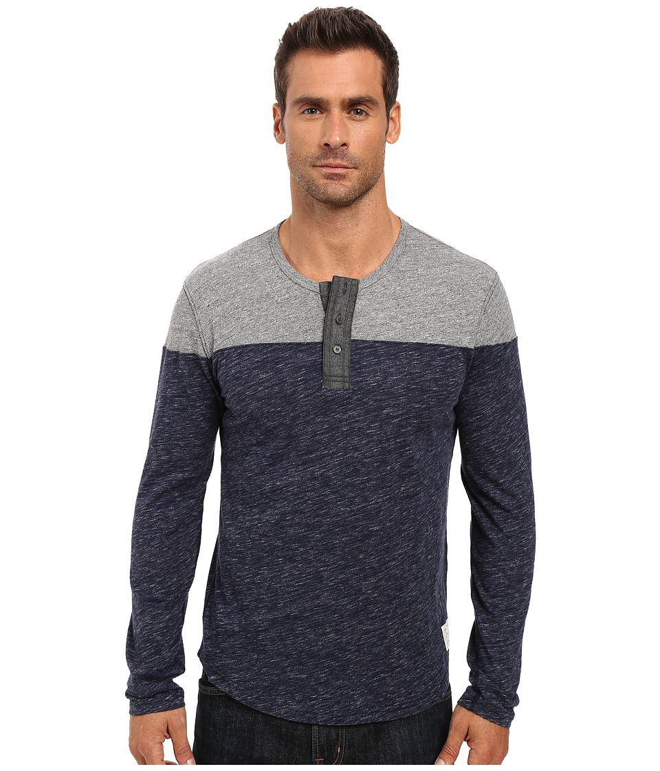 Lucky Brand Grey Label Henley (Grey Multi) Men